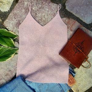 American Eagle dusty pink sweater tank size xl